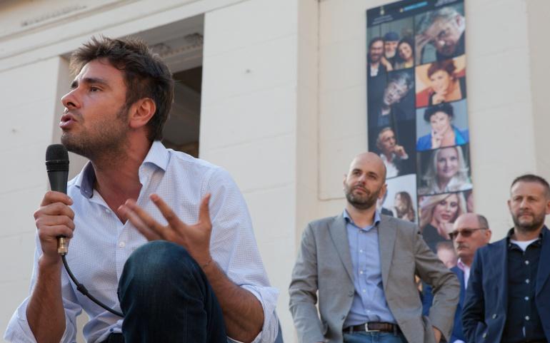 Immagini evento con Alessandro Di Battista